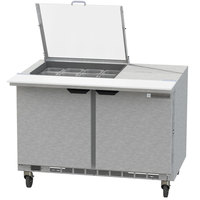 Beverage-Air SPE48HC-12M-CL Elite 48 inch 2 Door Mega Top Refrigerated Sandwich Prep Table