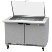 Beverage-Air SPE48HC-18M-CL Elite 48 inch 2 Door Mega Top Refrigerated Sandwich Prep Table