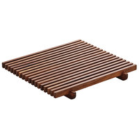 Playground 742880391000000 Ananti 7 1/8 inch Walnut Wood Square Crumb Grid - 2/Case