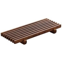 Playground 742880291000000 Ananti 7 1/8 inch x 3 1/2 inch Walnut Wood Rectangular Crumb Grid - 2/Case