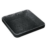 Playground 701320991021090 Nara 2.6 oz. Black Square Bowl - 6/Case