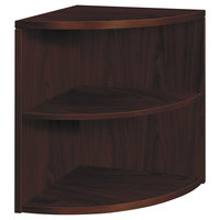 HON 105520NN 10500 Series Mahogany 2-Shelf End Cap Bookcase - 24 inch x 24 inch x 29 1/2 inch