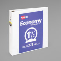 Avery 05770 White Economy View Binder with 1 1/2 inch Round Rings