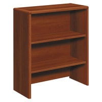 HON 107292CO 10700 Series Cognac 2-Shelf Bookcase Hutch - 32 5/8 inch x 14 5/8 inch x 37 1/8 inch