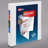 Avery 79799 White Heavy-Duty View Binder with 1 inch Locking One Touch Slant Rings