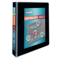 Avery 79711 Ultralast Black View Binder with 1 1/2 inch Non-Locking One Touch Slant Rings