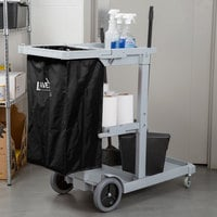 Lavex Janitorial Replacement Black Vinyl Bag for Janitor Cart