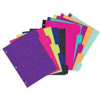 Avery 24928 Big Tab 5-Tab Multi-Color / Glitter Reversible Fashion Divider Set
