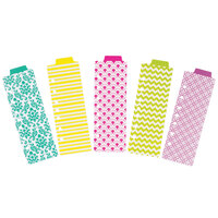 Avery 24922 5-Tab Assorted Design Mini Snap-In Plastic Bookmark Divider Set