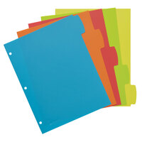 Avery 16129 Big Tab 5-Tab Multi-Color Plastic Write / Erase Durable Divider Set