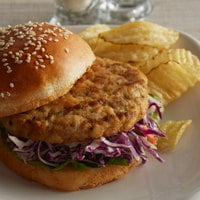 Brakebush 3.25 oz. Fully Cooked, Gluten-Free Flame Grilled Chicken Burger