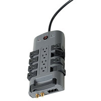 Belkin BP11223008 8' Gray 12 Outlet Pivot Plug Surge Protector, 4320 Joules