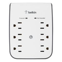 Belkin BSV602TT SurgePlus White 6 Outlet Surge Protector with 2 USB Ports, 900 Joules