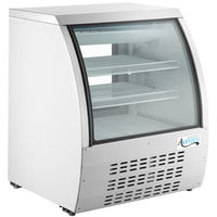 Avantco DLC36-HC-W 36 inch White Curved Glass Refrigerated Deli Case