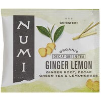 Numi Organic Decaf Ginger Lemon Tea Bags - 100/Case
