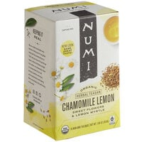 Numi Organic Chamomile Lemon Herbal Tea Bags   - 18/Box