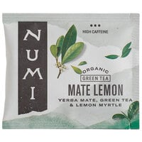 Numi Organic Mate Lemon Tea Bags - 100/Case