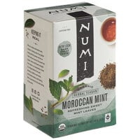 Numi Organic Moroccan Mint Herbal Tea Bags - 18/Box