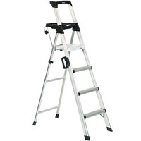 Cosco 2061AABLD Signature Series Aluminum 4-Step Folding Step Ladder with Work Platform