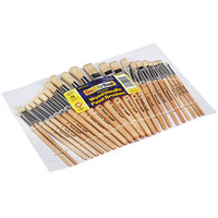 Creativity Street 5172 Chenille Kraft Preschool Brush Set Sizes 1-12 with Round and Flat Natural Bristles   - 24/Set