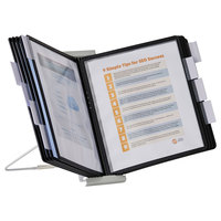 Durable 561201 InstaView Black Borders Letter Sized 10 Panel Expandable Desktop Reference System