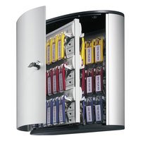 Durable 195323 Silver Brushed Aluminum 54 Key Locking Key Cabinet - 11 3/4 inch x 4 5/8 inch x 11 inch