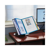 Durable 554200 SHERPA 10 inch x 5 5/8 inch x 13 7/8 inch Assorted Borders 10 Panel Desktop Reference System