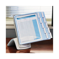 Durable 594406 SHERPA 14 1/2 inch x 11 3/8 inch x 5 1/16 inch Blue / Gray 10 Panel Desktop Reference System