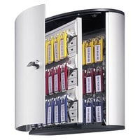 Durable 195223 Silver Brushed Aluminum 36 Key Locking Key Cabinet - 11 3/4 inch x 4 5/8 inch x 11 inch