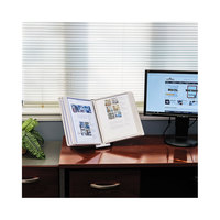 Durable 554210 SHERPA 10 inch x 5 5/8 inch x 13 1/2 inch Gray Borders 10 Panel Desktop Reference System