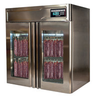 "Stagionello 43"" Glass Door Stainless Steel Meat Curing Cabinet - 132 lb. / 60 kg., 220V, 2600W"