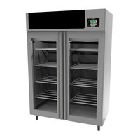 Maturmeat 58 inch Glass Door Stainless Steel Meat Aging Cabinet - 440 lb. / 200 kg., 220V, 4140W