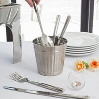 American Metalcraft OSCAR3 6 inch Round Stainless Steel Utensil Holder
