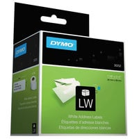 "DYMO 30252 LabelWriter 1 1/8"" x 3 1/2"" White Address Permanent Self-Adhesive 350-Label Roll - 2/Box"