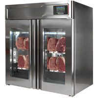 Maturmeat 43 inch Glass Door Stainless Steel Meat Aging Cabinet - 132 lb. / 60 kg., 220V, 2376W