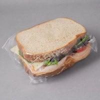 LK Packaging 14 inch x 14 inch BOPP Clear Deli Sandwich Wrap - 1000/Case