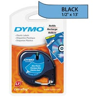 "DYMO 91335 LetraTag 1/2"" x 13' Blue Plastic Label Tape"