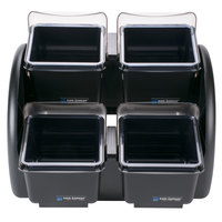 San Jamar BDS2401NL The Dome - Mini 2/2 Dome Stacker 8 Qt. Capacity - Notched Lids