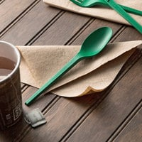 EcoChoice Heavy Weight 6 1/2 inch Green CPLA Plastic Spoon - 1000/Case