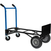 Harper DTC8635P 4-in-1 900 lb. Quick Change Hand Truck with Dual Handles and 10 inch Solid Rubber Wheels