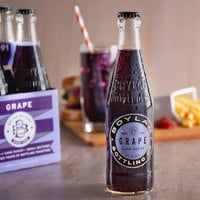 Boylan Bottling Co. 12 fl. oz. Grape Soda 4-Pack - 6/Case