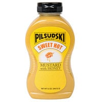 Pilsudski Sweet Hot Honey Mustard 12 oz. Upside Down Squeeze Bottle