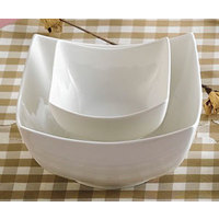 CAC SHA-B6 Sushia 16 oz. Super White Square Porcelain Bowl - 36/Case
