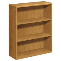 HON 10753CC 10700 Series Harvest Wood 3-Shelf Bookcase - 36 inch x 13 1/8 inch x 43 3/8 inch