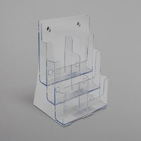 Deflecto 77401 DocuHolder 9 5/8 inch x 6 1/4 inch x 12 5/8 inch Clear 6-Compartment Brochure Holder