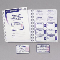 "C-Line Products 97009 3"" x 2"" Self-Expiring Visitor Name Badges with Registry Log Book"