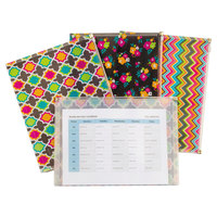 "C-Line 55610 Zip 'N Go 13 1/8"" x 10"" Assorted Color Fashion Reusable Envelope - 3/Pack"