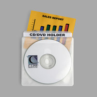 C-Line 61988 Deluxe 5 3/4 inch x 5 3/4 inch Double Sided Clear Individual CD / DVD Holder - 50/Box