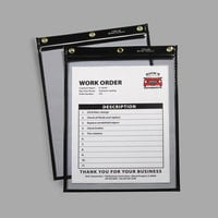 "C-Line 50912 9"" x 12"" Clear Heavy-Duty Super Heavyweight Plus Stitched Shop Ticket Holder with 75 Sheet Capacity - 15/Box"