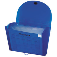 C-Line 48315 13-Pocket Blue Letter Sized Expanding File with Elastic Closure